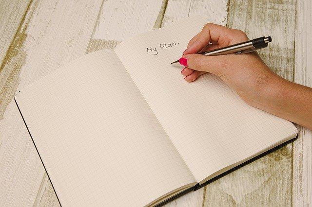 ノートに計画立てする人