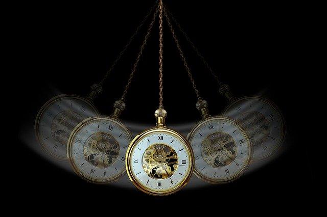 揺れる時計
