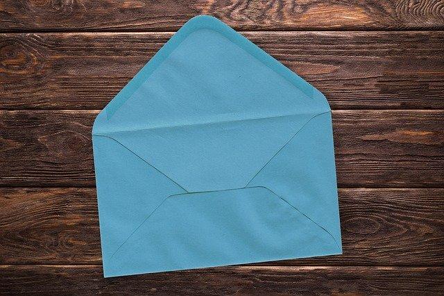 水色の封筒