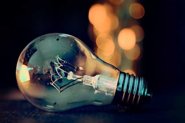 横たわった電球