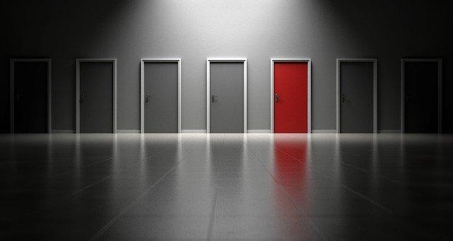 ドアの選択