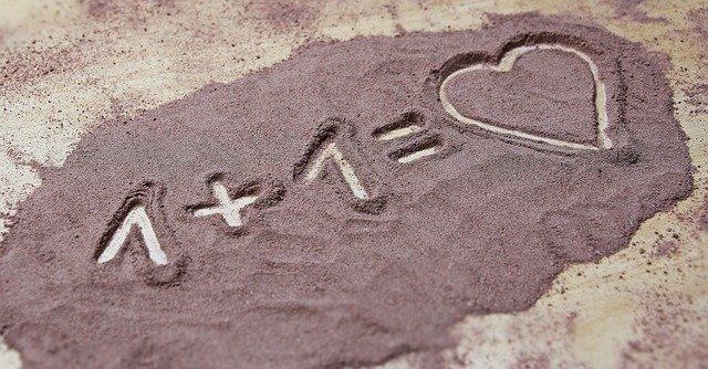 砂に書いた絵