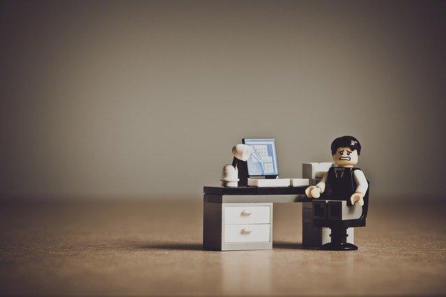 レゴブロックのビジネスマン